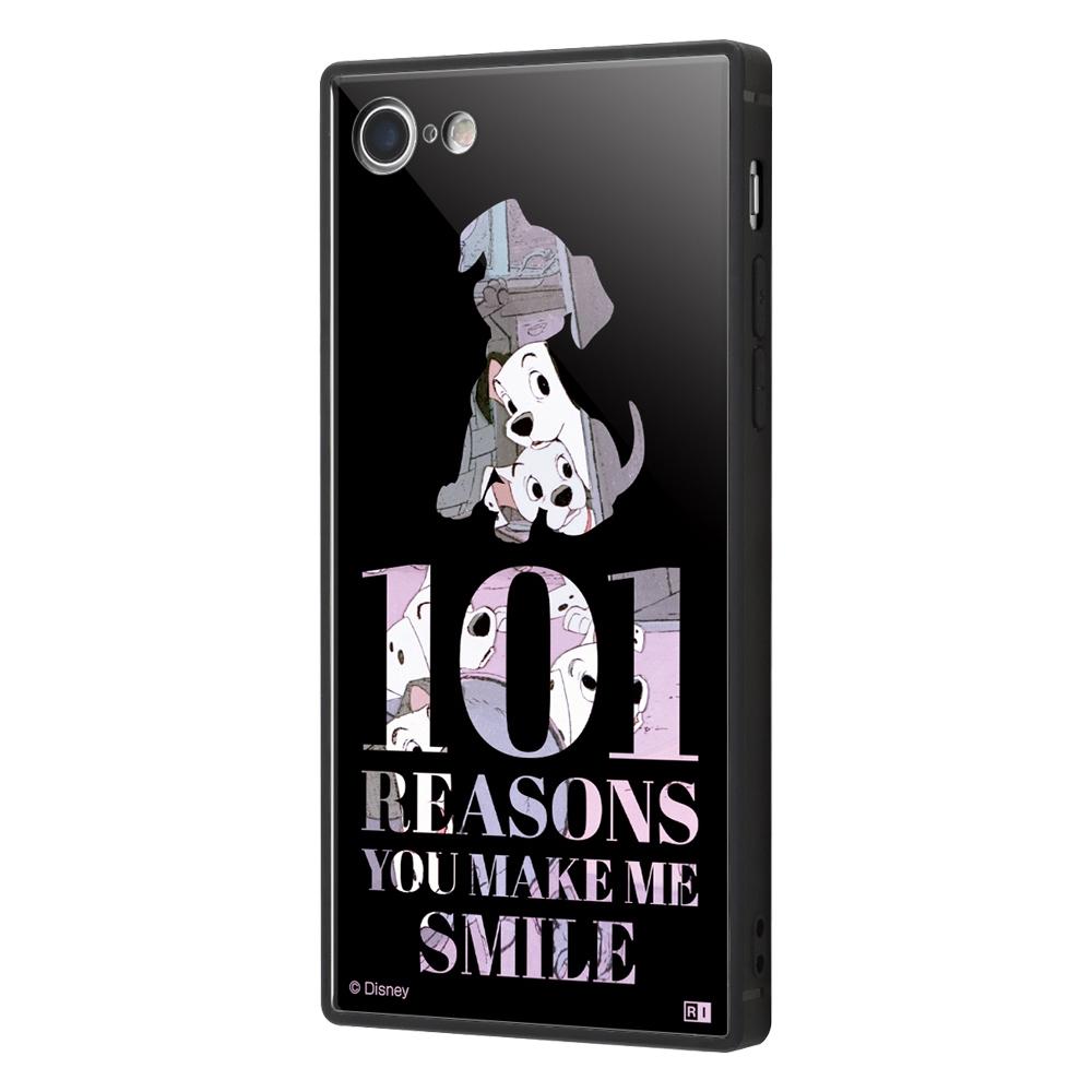 iPhone 8 / 7 /『ディズニーキャラクター』/耐衝撃ケース KAKU トリプルハイブリッド/『101匹わんちゃん/Famous scene』【受注生産】