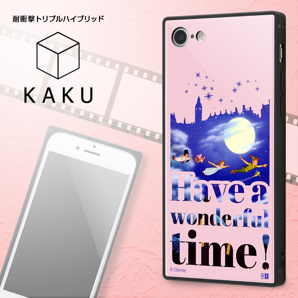 iPhone 8 / 7 /『ディズニーキャラクター』/耐衝撃ケース KAKU トリプルハイブリッド/『ピーター・パン/Famous scene』【受注生産】
