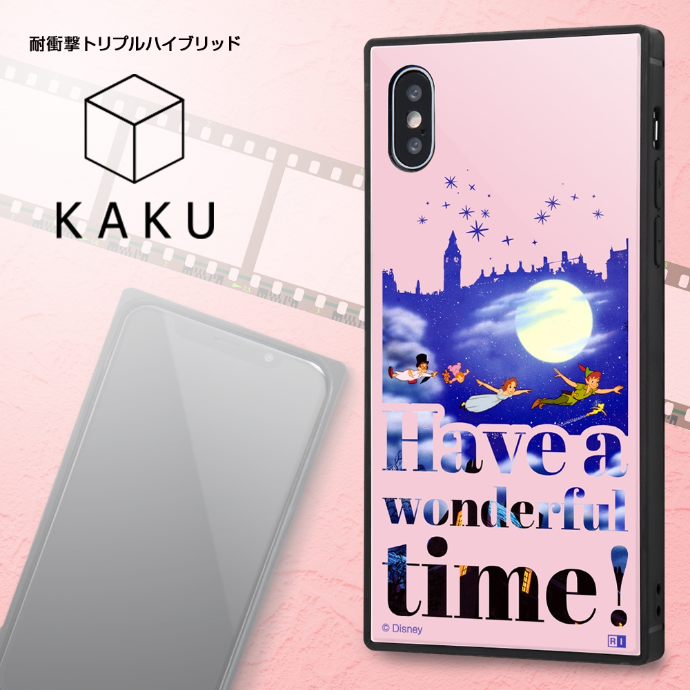 iPhone XS / X /『ディズニーキャラクター』/耐衝撃ケース KAKU トリプルハイブリッド/『ピノキオ/Famous scene』【受注生産】