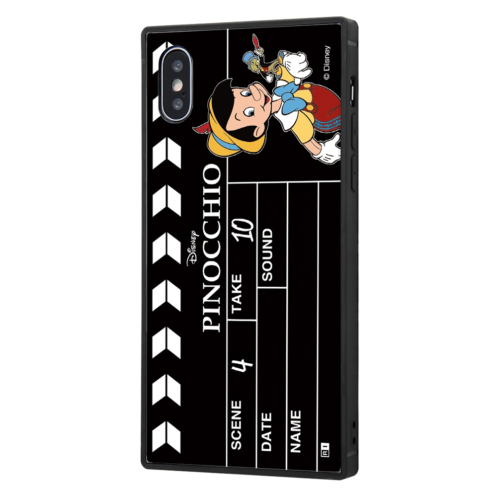 iPhone XS / X /『ディズニーキャラクター』/耐衝撃ケース KAKU トリプルハイブリッド/『ピノキオ/Clapperboard』【受注生産】