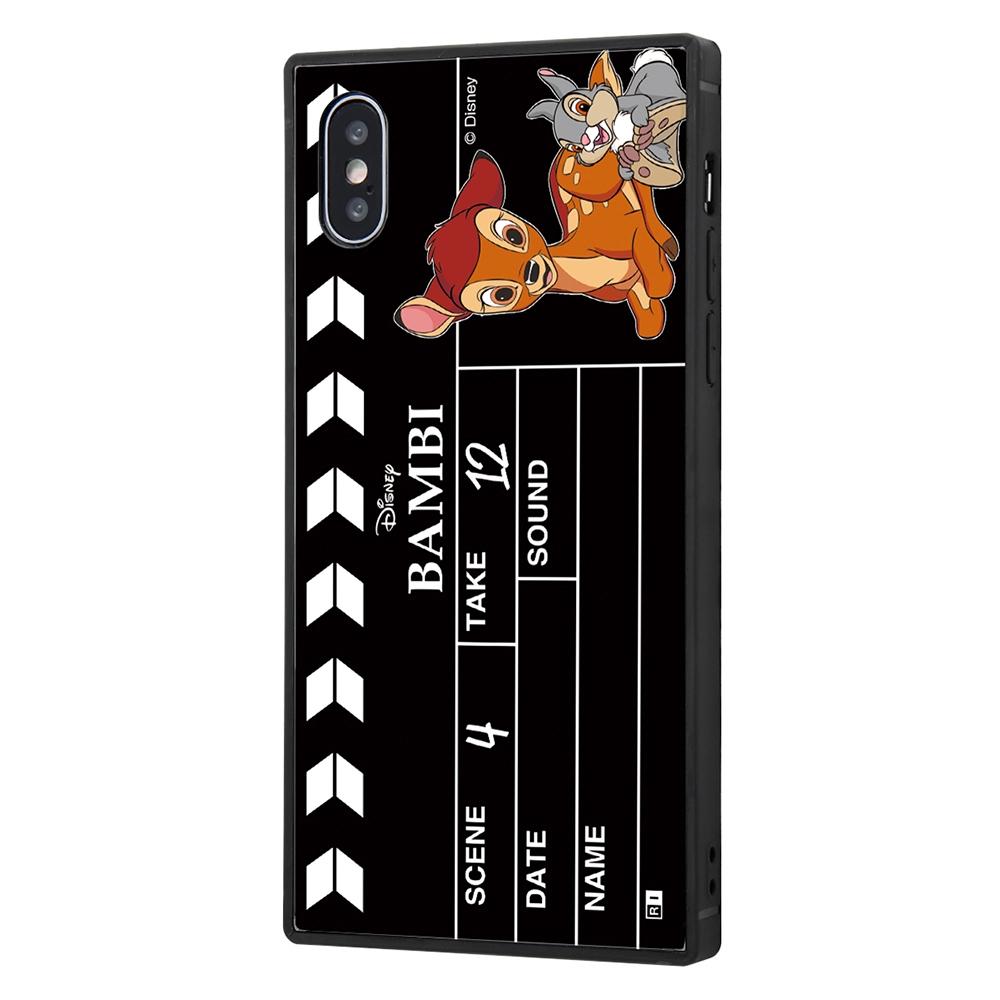 iPhone XS / X /『ディズニーキャラクター』/耐衝撃ケース KAKU トリプルハイブリッド/『バンビ/Clapperboard』【受注生産】