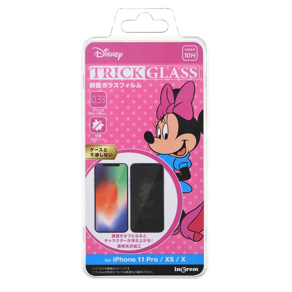 ミニー iPhone 11 Pro/X/XS用液晶保護フィルム トリックガラスフィルム 10H