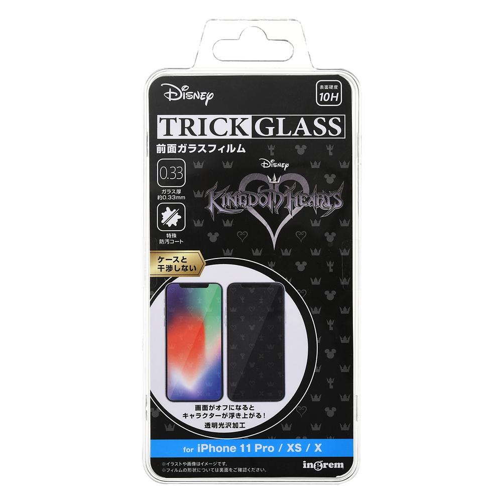 キングダムハーツ iPhone 11 Pro/X/XS用液晶保護フィルム トリックガラスフィルム 10H シンボル