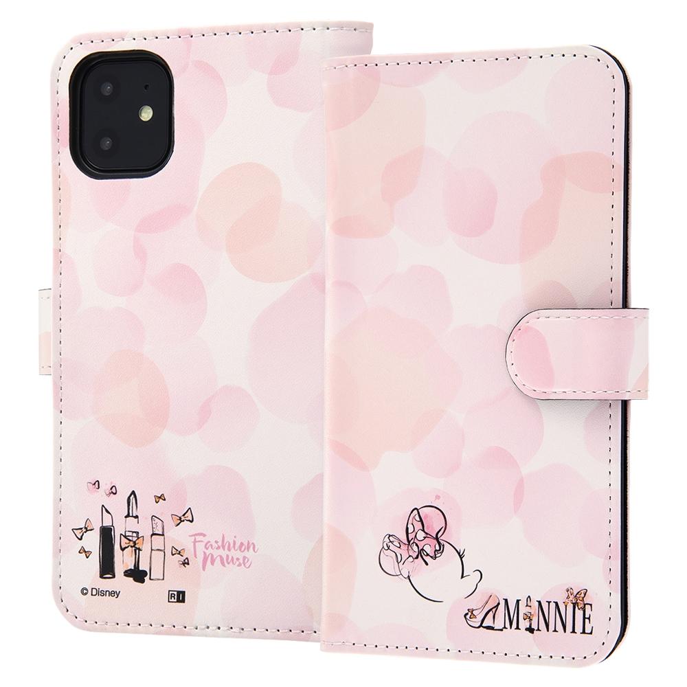 iPhone 11 『ディズニーキャラクター』/手帳型アートケース マグネット/ミニーマウス_016