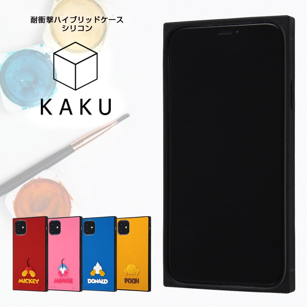 iPhone 11 『ディズニーキャラクター』/耐衝撃ハイブリッドケース シリコン KAKU/ミッキー
