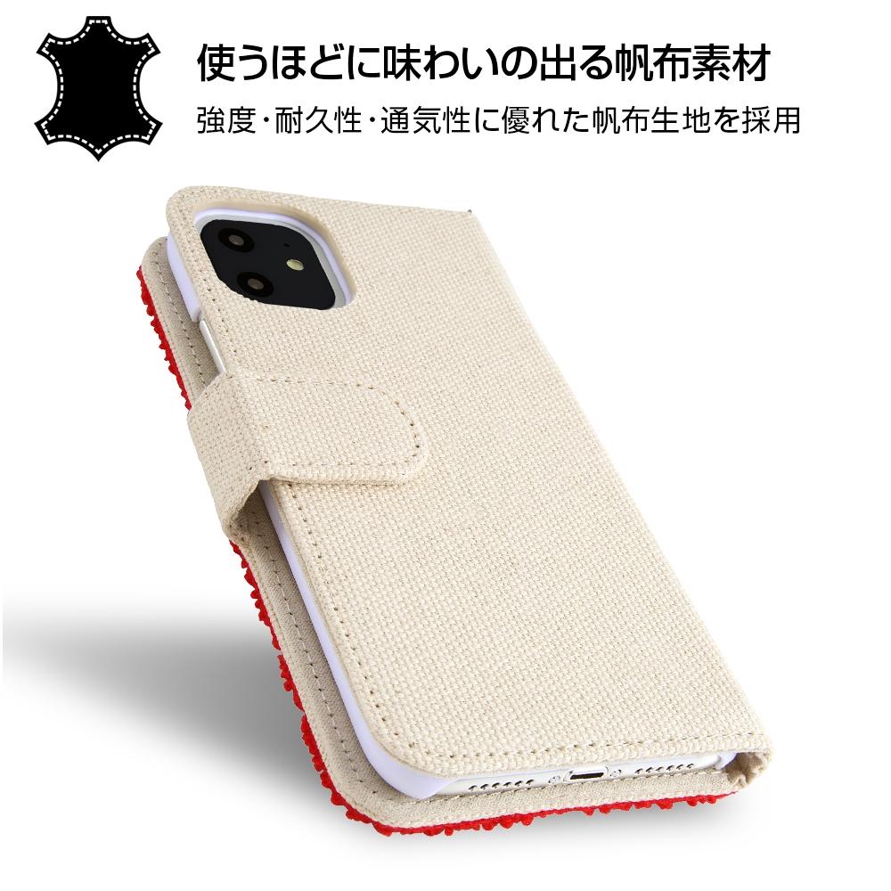 iPhone 11 『ディズニーキャラクター』/手帳型ケース サガラ刺繍/チップ&デール