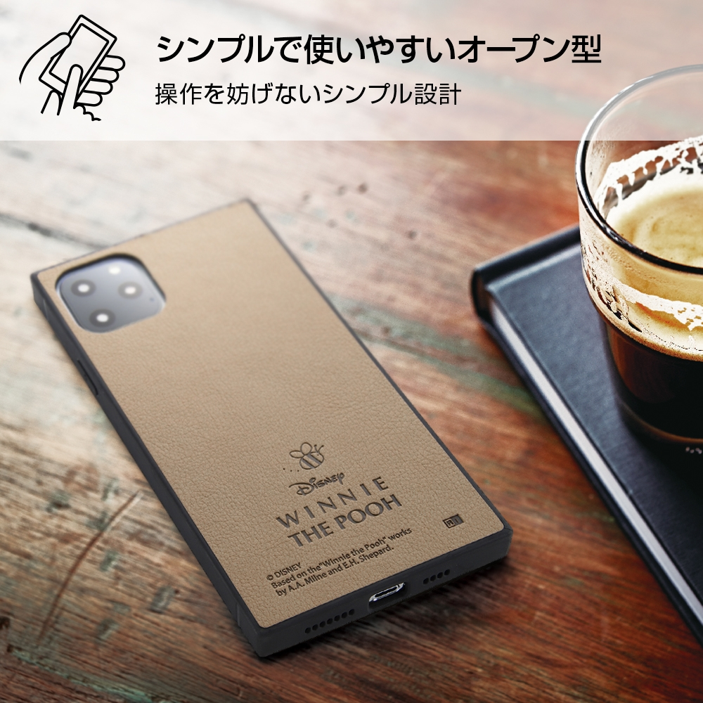 iPhone 11 Pro Max 『ディズニーキャラクター』/耐衝撃オープンレザーケース KAKU/『プー』