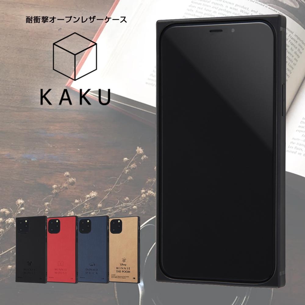 iPhone 11 Pro 『ディズニーキャラクター』/耐衝撃オープンレザーケース KAKU/ミッキー