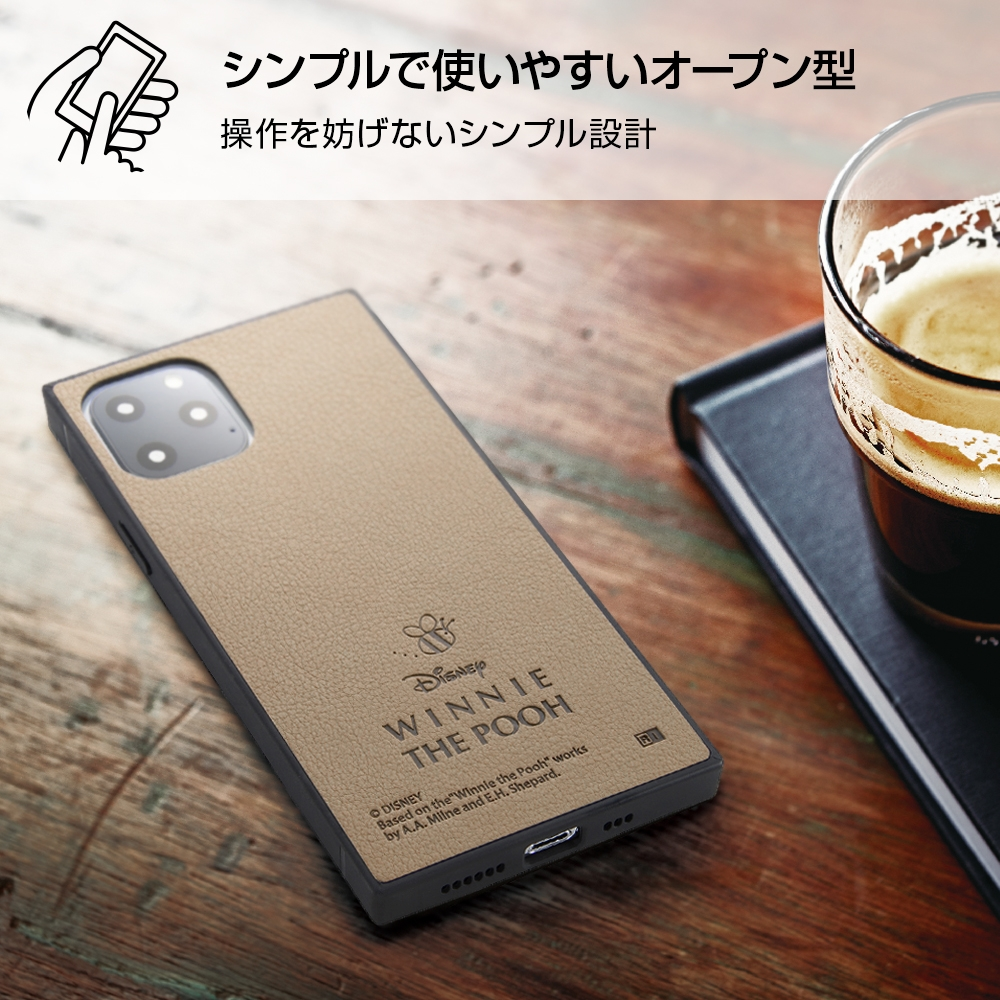 iPhone 11 Pro 『ディズニーキャラクター』/耐衝撃オープンレザーケース KAKU/ミニー