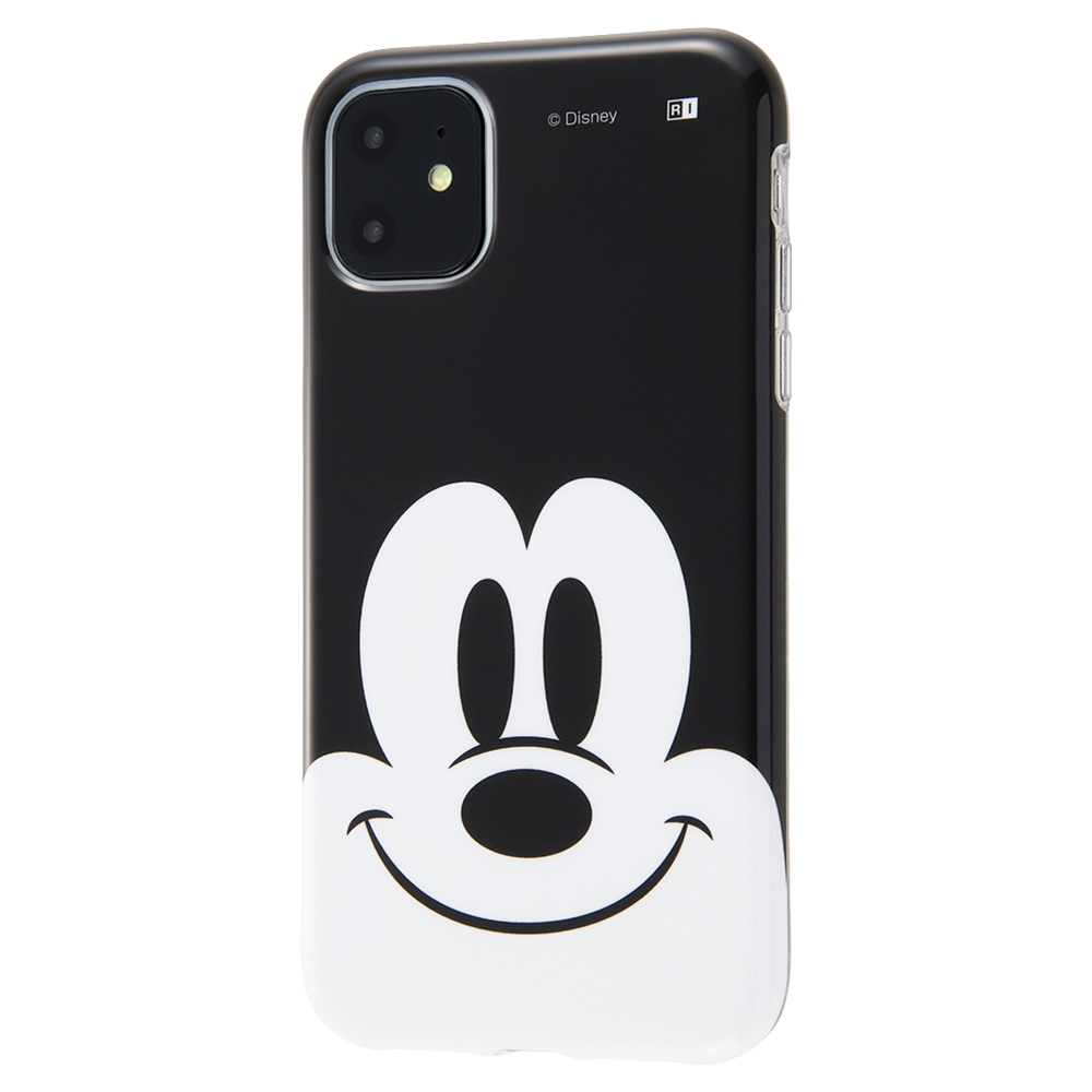 iPhone 11 『ディズニーキャラクター』/TPUソフトケース クローズアップ/ミッキー