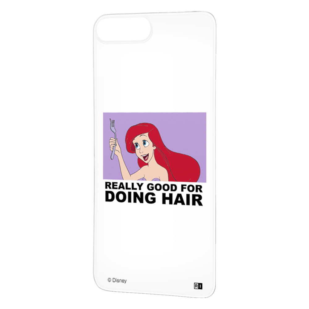 iPhone 8 Plus / 7 Plus /『ディズニーキャラクター』/背面パネル/『アリエル/clair』_01【受注生産】
