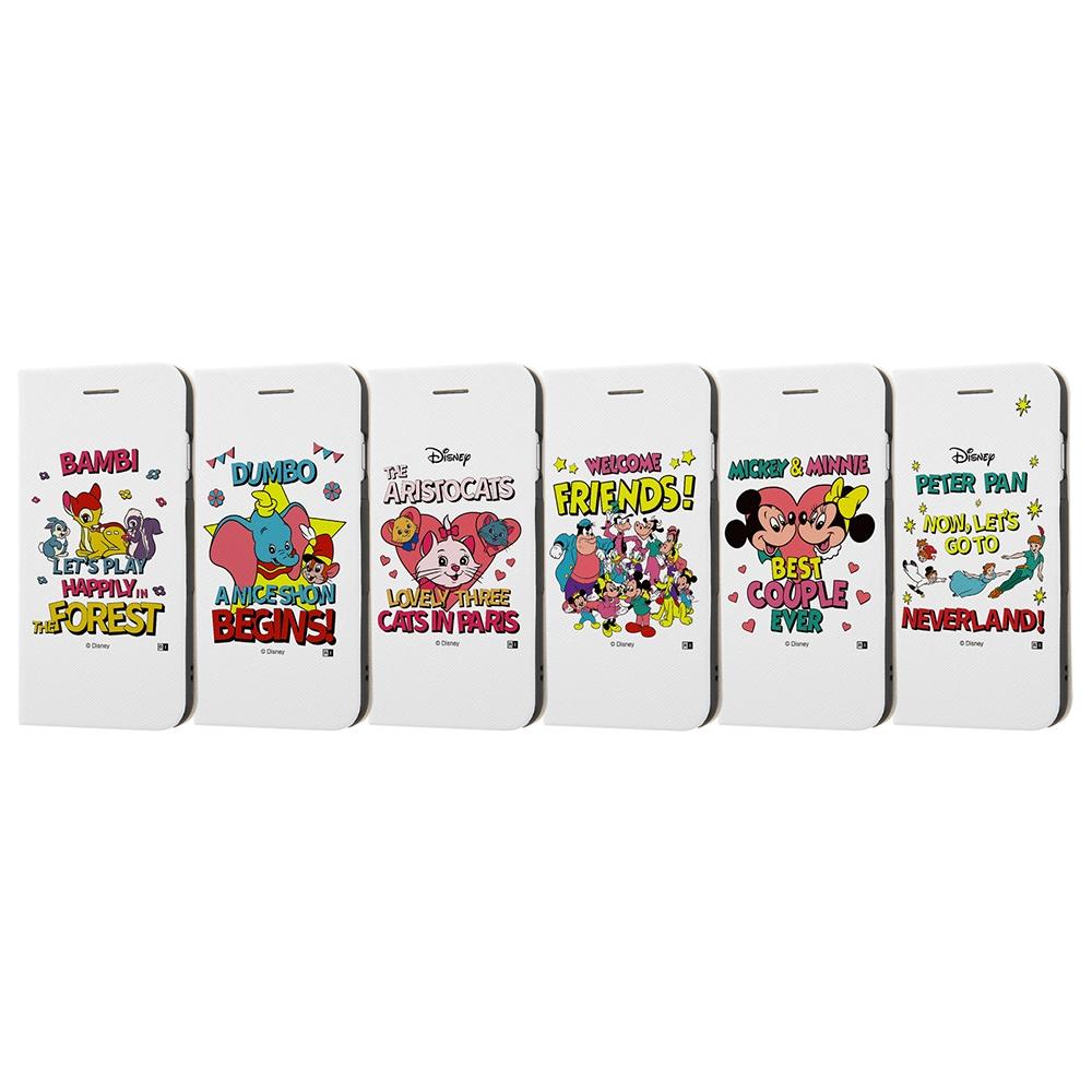 iPhone SE(第2世代)/8 / 7 /『ディズニーキャラクター』/手帳型ケース マグネットタイプ/『Best Couple/レトロ』_01【受注生産】
