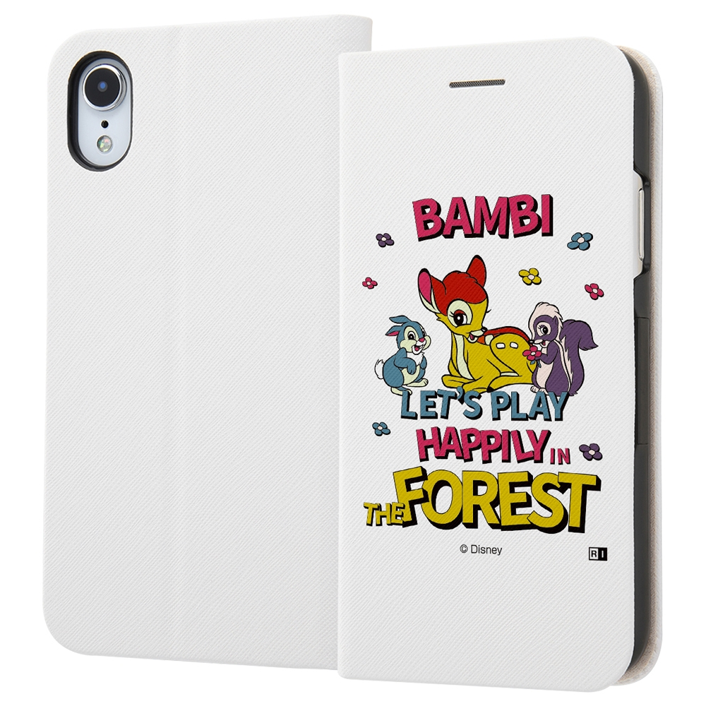 iPhone XR /『ディズニーキャラクター』/手帳型ケース マグネットタイプ/『バンビ/レトロ』_01【受注生産】