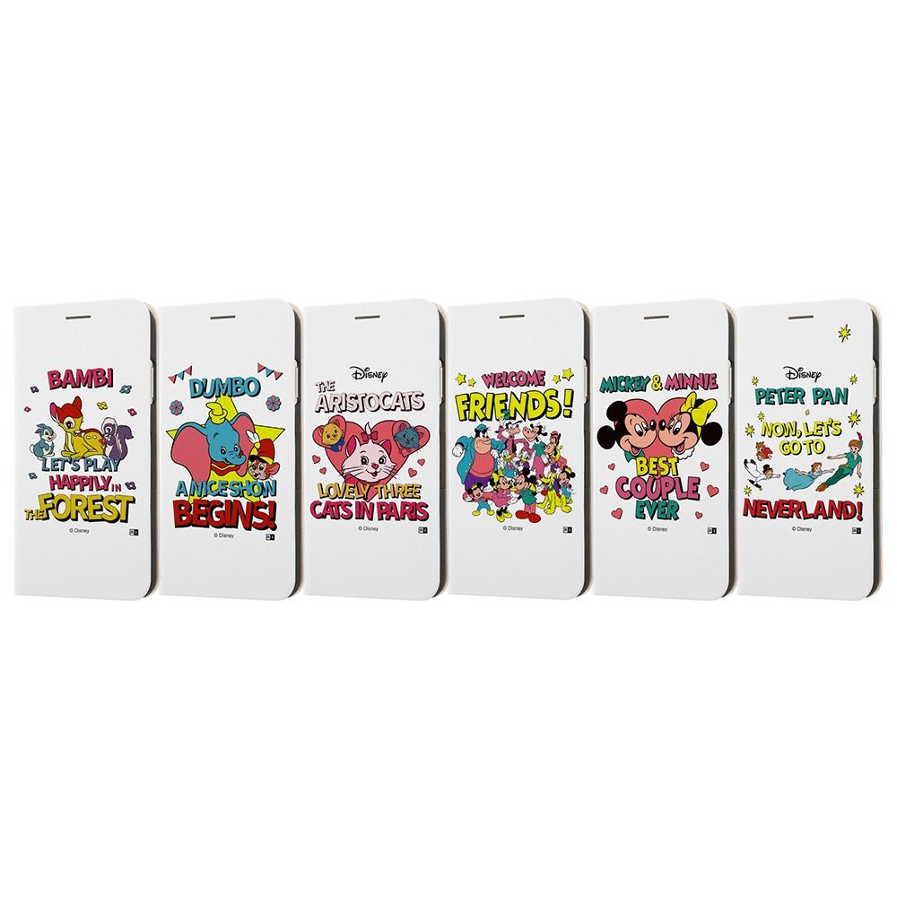 iPhone XS Max /『ディズニーキャラクター』/手帳型ケース マグネットタイプ/『バンビ/レトロ』_01【受注生産】