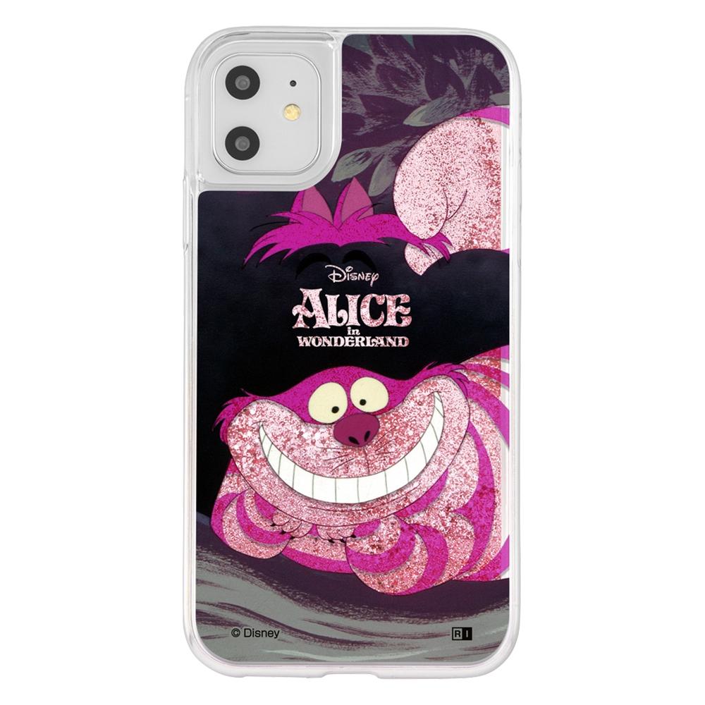 iPhone 11 / XR /『ディズニーキャラクター』/ラメ グリッターケース/『ふしぎの国のアリス/Sit』_02【受注生産】