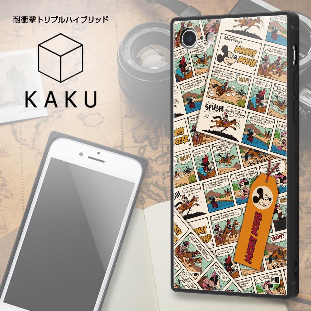 iPhone SE(第2世代)/8/ 7 /『ディズニーキャラクター』/耐衝撃ケース KAKU トリプルハイブリッド/『ミッキーマウス/comic』【受注生産】