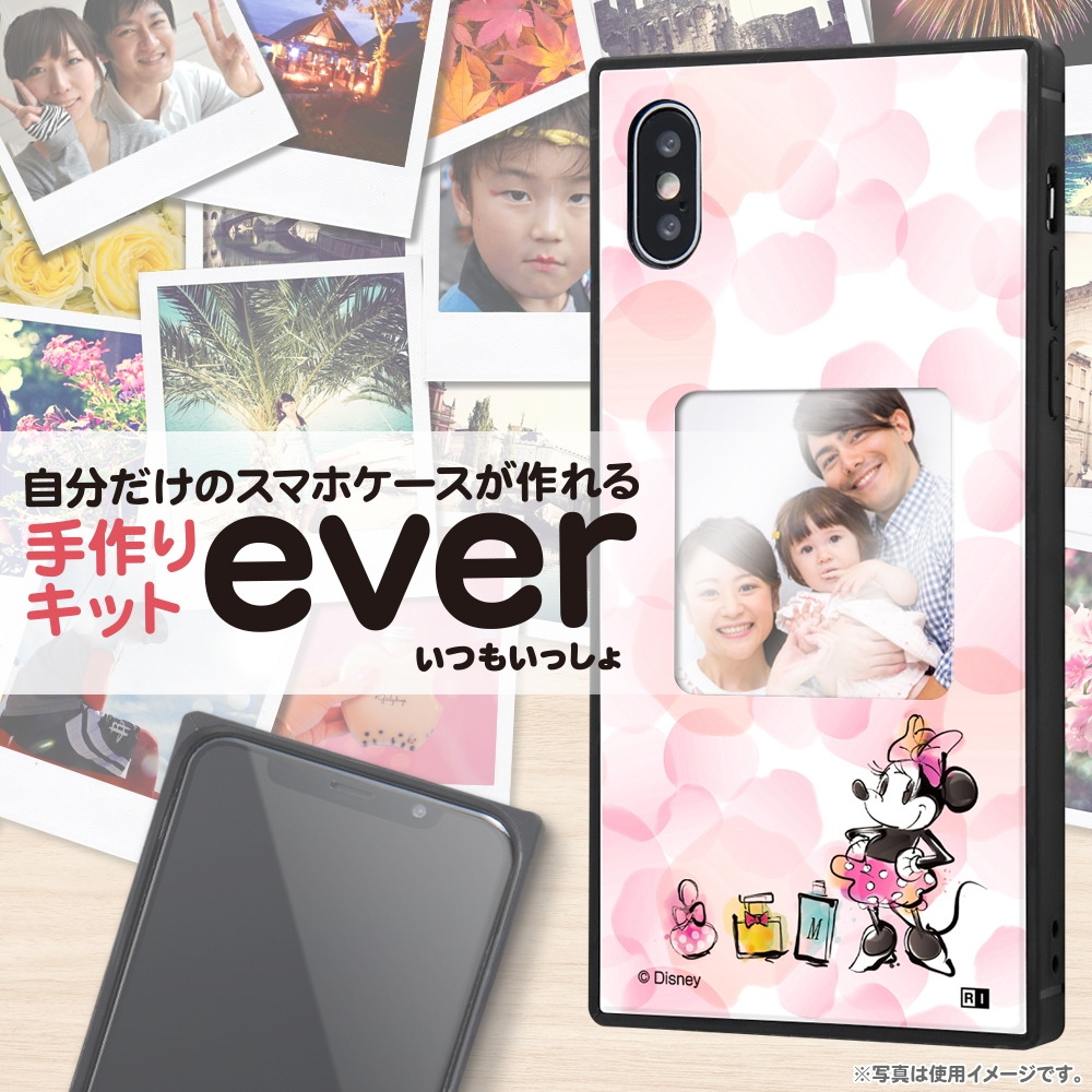 iPhone XS / X /『ディズニーキャラクター』/スマホケースフレームキット ever/『ミニーマウス/メモリー』_01【受注生産】