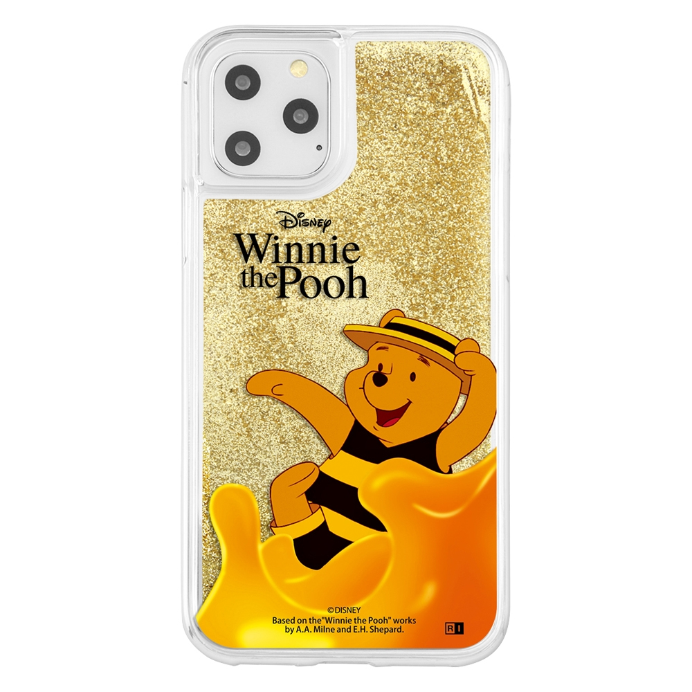 iPhone 11 Pro /『くまのプーさん』/ラメ グリッターケース/『くまのプーさん/HUNNY』_01【受注生産】