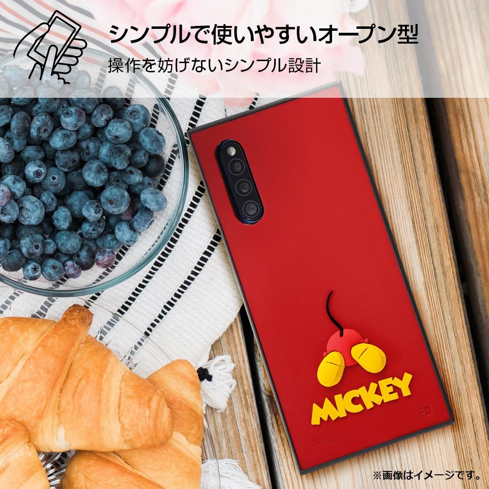 Galaxy A41 『ディズニーキャラクター』/耐衝撃ハイブリッドケース シリコン KAKU/ミッキー
