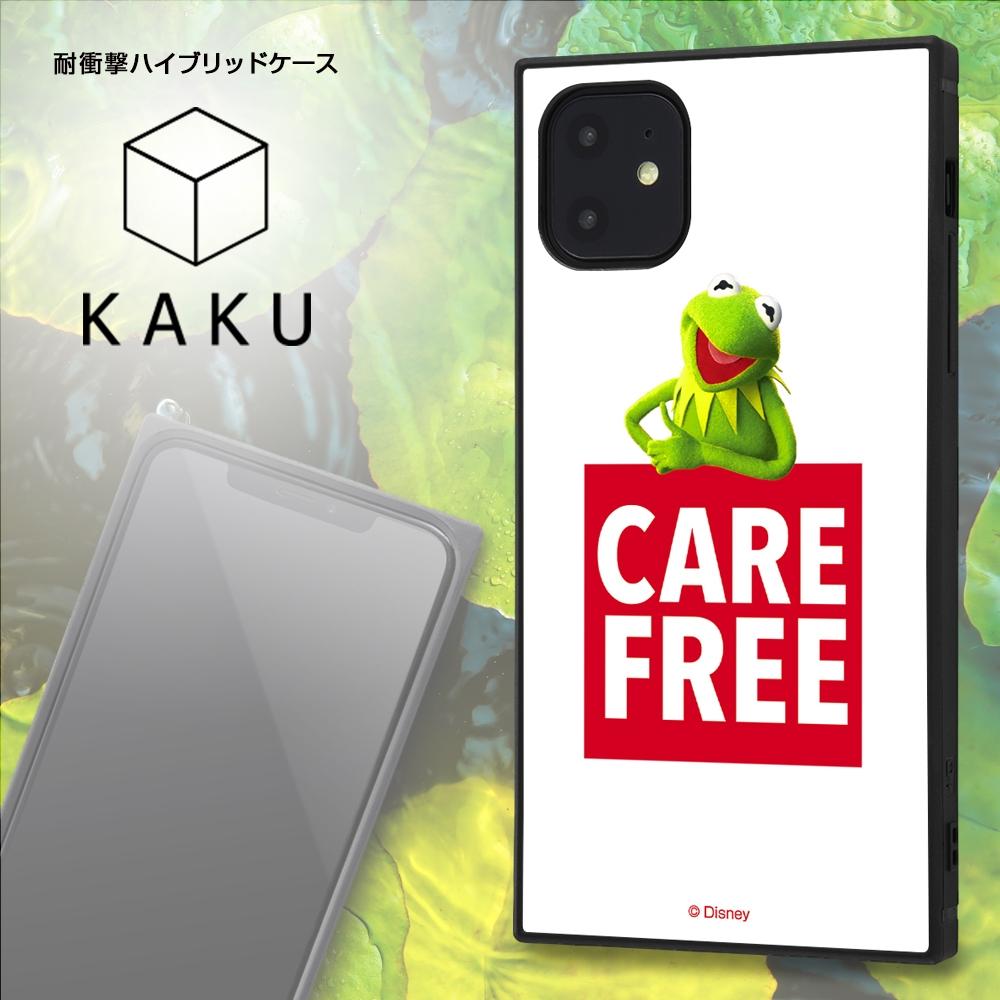 iPhone 11 /『マペッツ』/耐衝撃ハイブリッドケース KAKU /『カーミット/Care free』_1【受注生産】