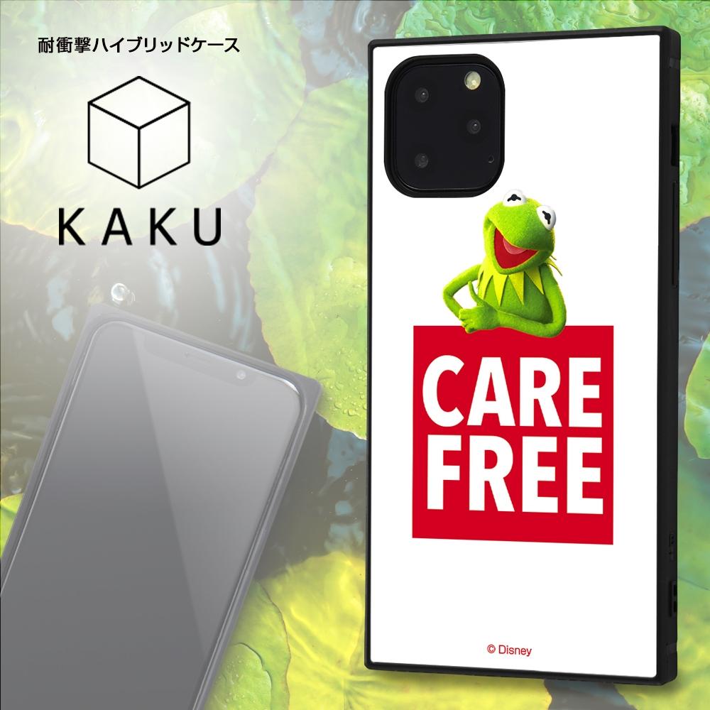 iPhone 11 Pro /『マペッツ』/耐衝撃ハイブリッドケース KAKU /『カーミット/Care free』_1【受注生産】
