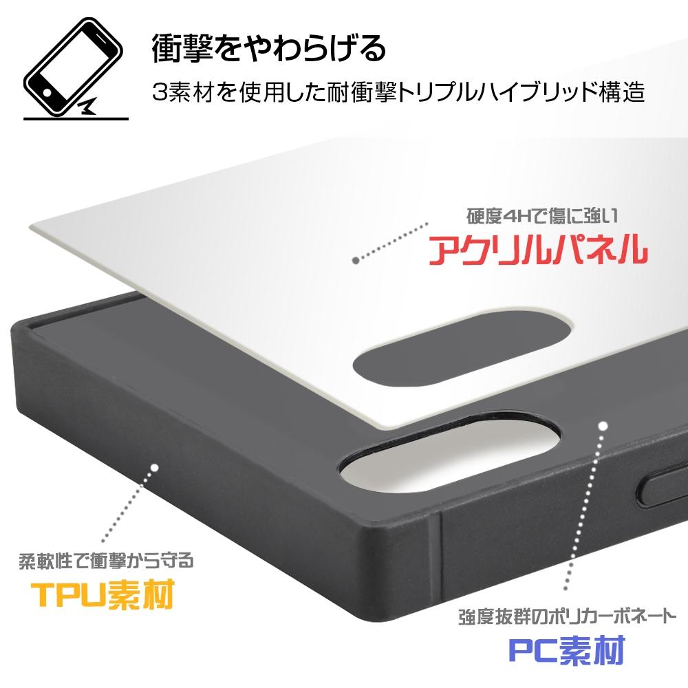 iPhone XS / X /『ディズニーキャラクター』/耐衝撃ケース KAKU トリプルハイブリッド/『クルエラ/ネオンサイン』【受注生産】