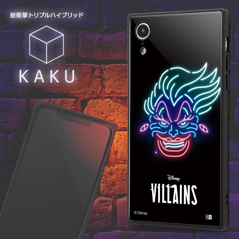 iPhone XR /『ディズニーキャラクター』/耐衝撃ケース KAKU トリプルハイブリッド/『女王/ネオンサイン』【受注生産】