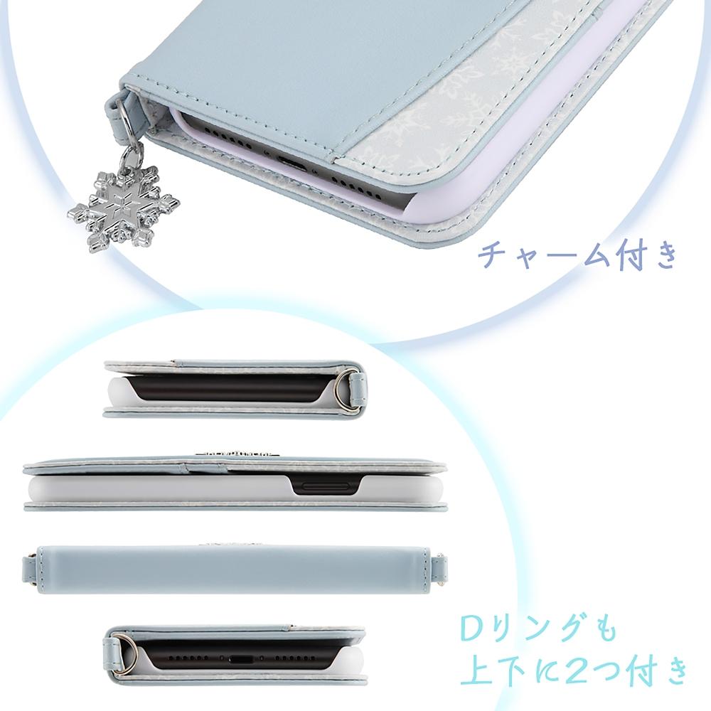 アナと雪の女王 iPhone 11用スマホケース・カバー 手帳型 レザー Collet チャーム付き