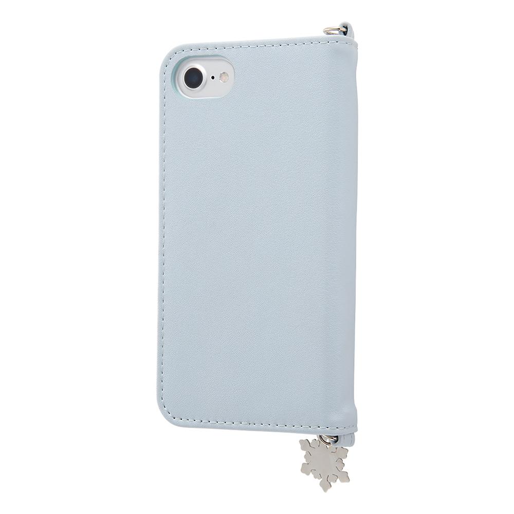 アナと雪の女王 iPhone 6/6s/7/8/SE(第2世代)用スマホケース・カバー 手帳型 レザー Collet チャーム付き