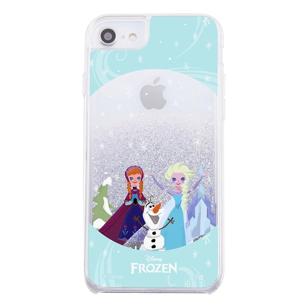 iPhone SE(第2世代)/ 8/7 / 6s / 6 /『アナと雪の女王』/ラメ グリッターケース/『アナと雪の女王/スノードーム』【受注生産】