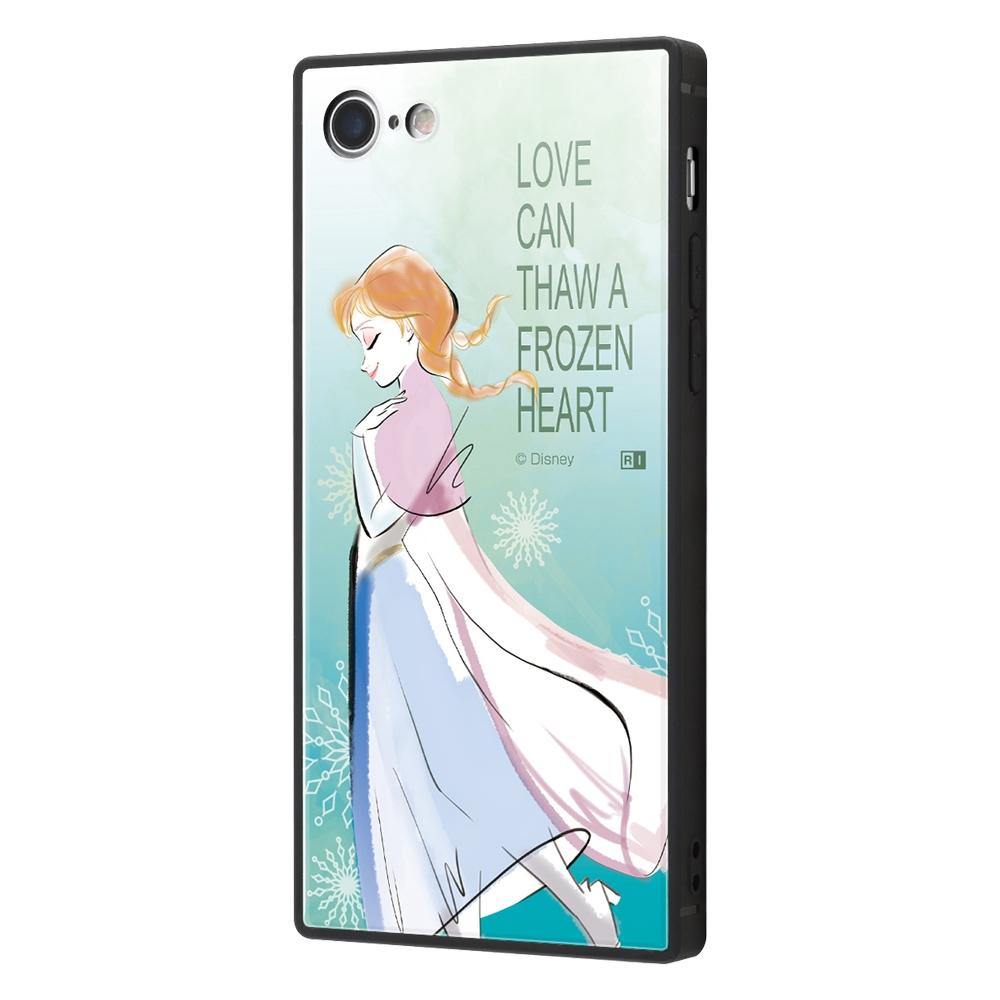 iPhone SE(第2世代)/8/ 7  /『アナと雪の女王』/耐衝撃ケース KAKU トリプルハイブリッド『アナと雪の女王/アナ』_01【受注生産】