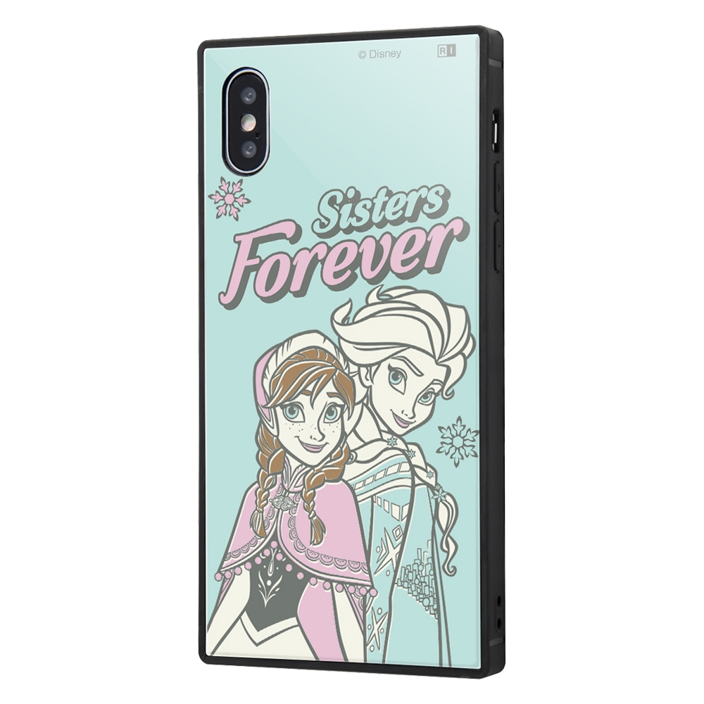 iPhone XS / X /『アナと雪の女王』/耐衝撃ケース KAKU トリプルハイブリッド『アナと雪の女王/エルサとアナ』_01【受注生産】