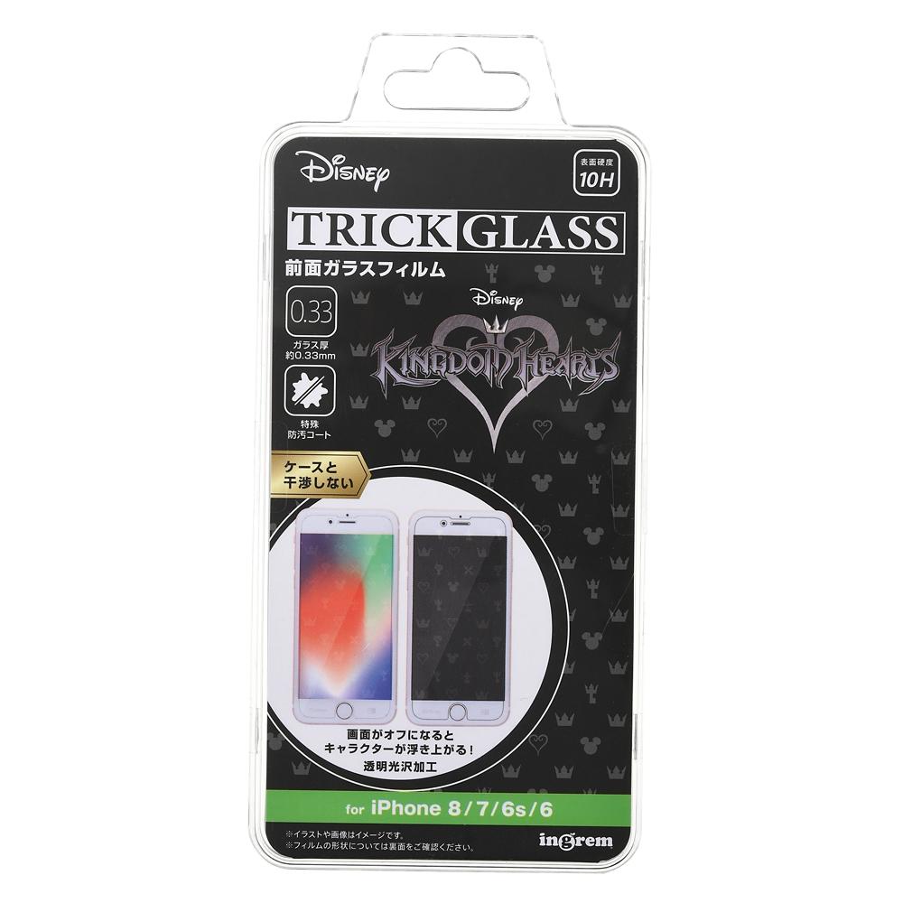 キングダムハーツ iPhone 6/6s/7/8用液晶保護フィルム トリックガラスフィルム 10H シンボル