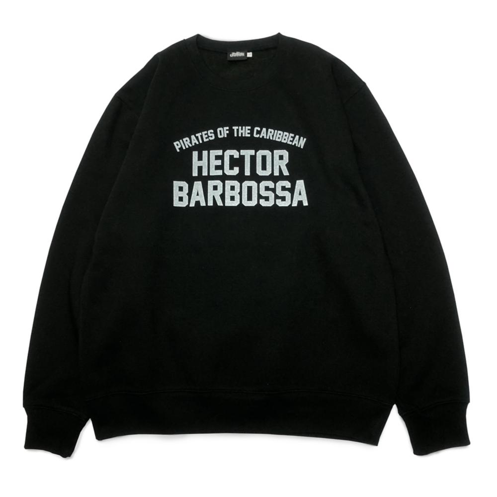 【キャラチョイ】パイレーツ・オブ・カリビアン HECTOR BARBOSSA  スウェット(ブラックL)18PIR-06
