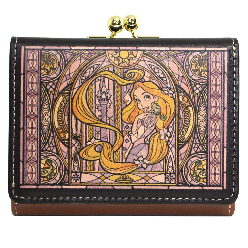 【送料無料】ラプンツェル&パスカル 財布・ウォレット 三つ折り ミニ ステンドグラスコレクション Fantastic Leather Collection