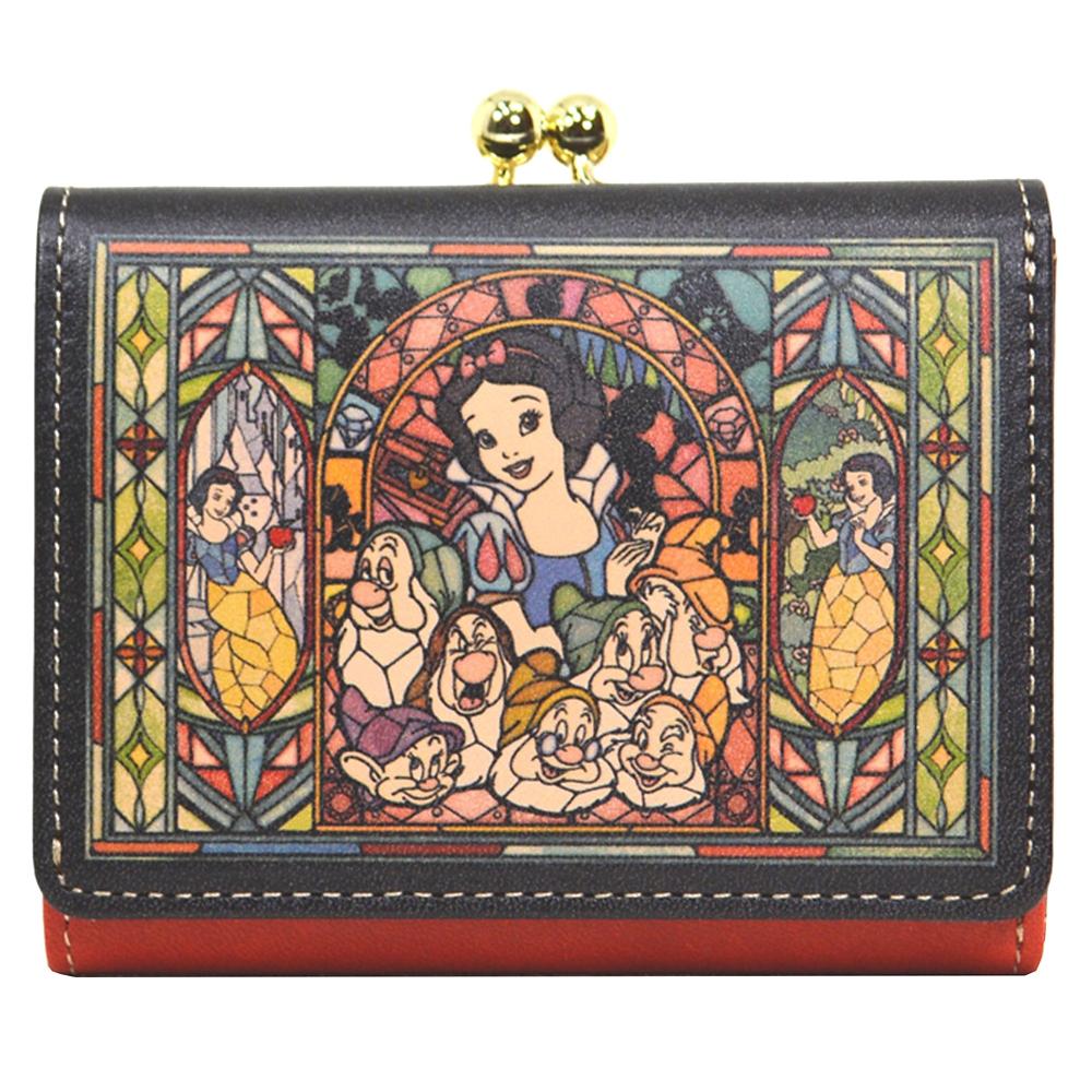 【送料無料】白雪姫&7人のこびと 財布・ウォレット 三つ折り ミニ ステンドグラスコレクション Fantastic Leather Collection