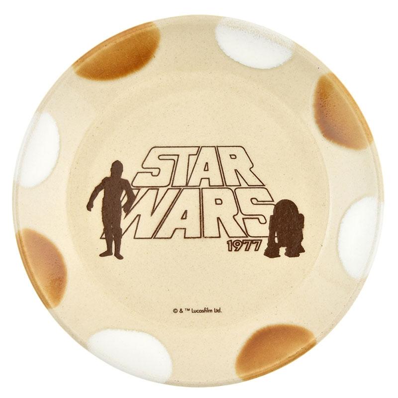 【MASHICO】スター・ウォーズ C-3PO&R2-D2 プレート アンバー&ホワイト 益子焼