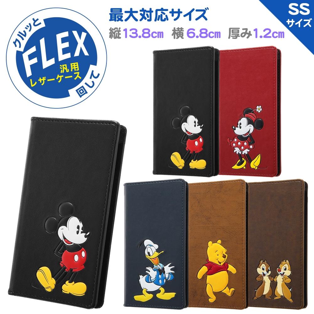 『ディズニーキャラクター』/汎用手帳型ケース FLEX SSサイズ ポップアップ/『ミッキーマウス』