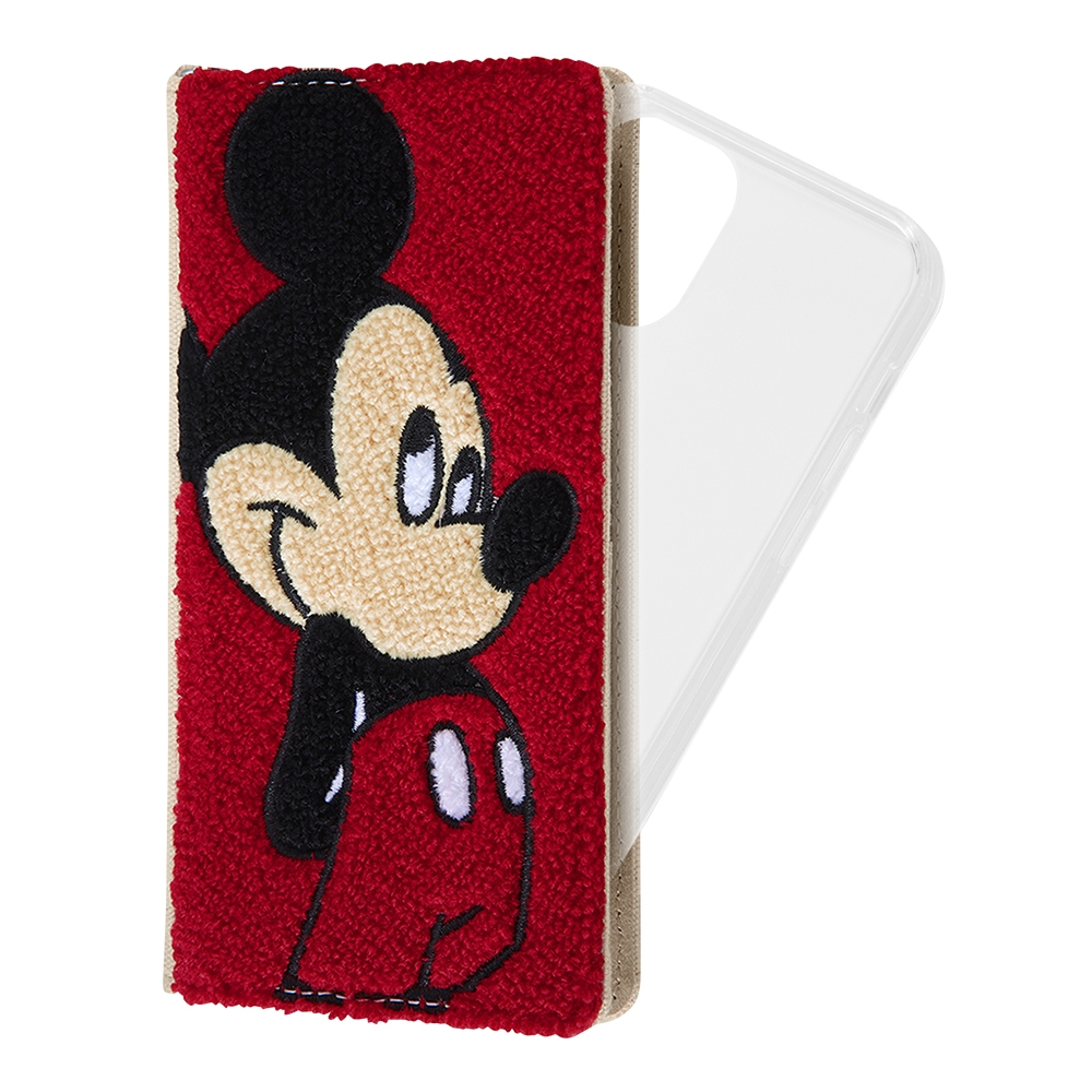 iPhone 12 / 12 Pro 『ディズニーキャラクター』/手帳型 FLEX CASE サガラ刺繍/『ミッキーマウス』