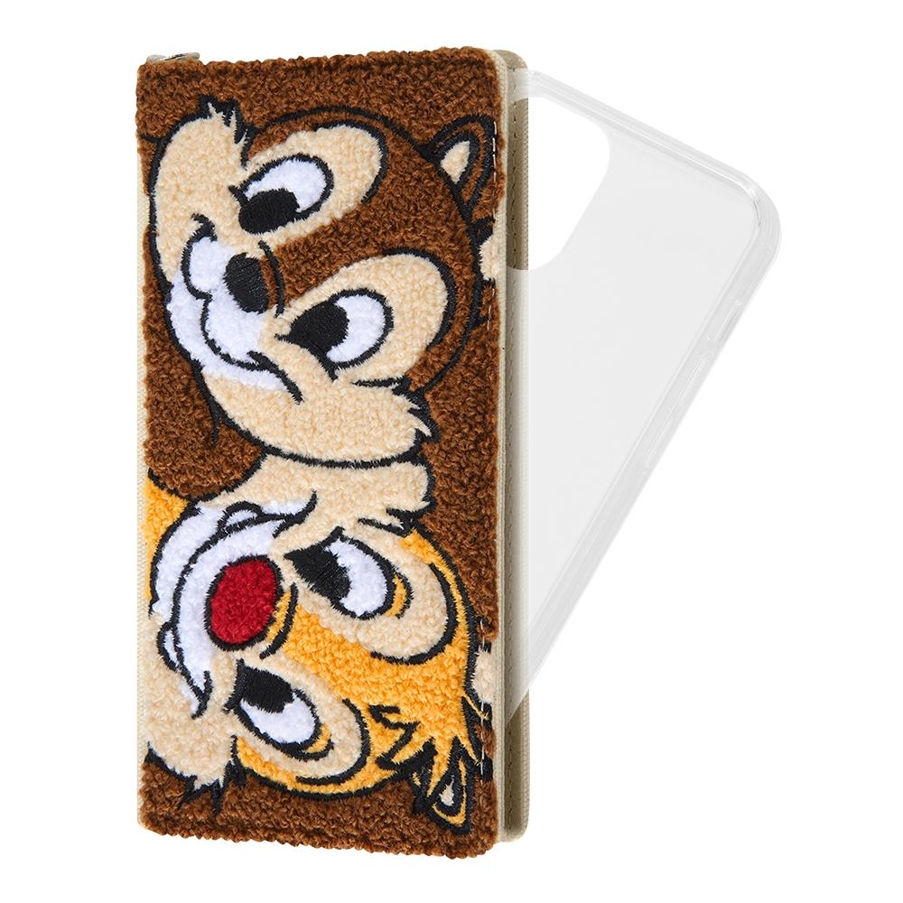 iPhone 12 / 12 Pro 『ディズニーキャラクター』/手帳型 FLEX CASE サガラ刺繍/『チップ&デール』