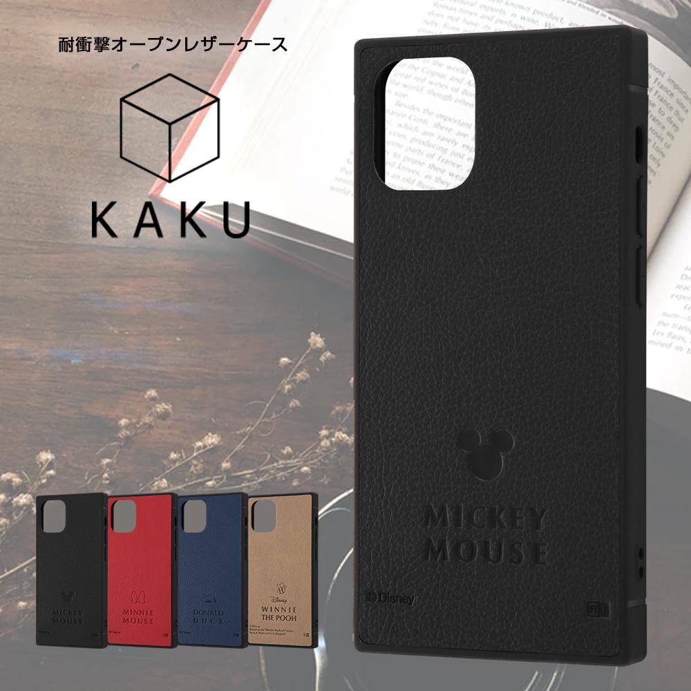 iPhone 12 mini 『ディズニーキャラクター』/耐衝撃オープンレザーケース KAKU/『ミッキーマウス』