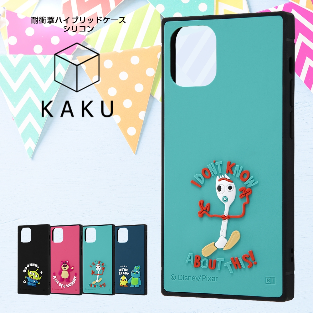 iPhone 12 mini 『ディズニー・ピクサーキャラクター』/耐衝撃ハイブリッドケース シリコン KAKU/ 『トイ・ストーリー/ダッキー&バニー』