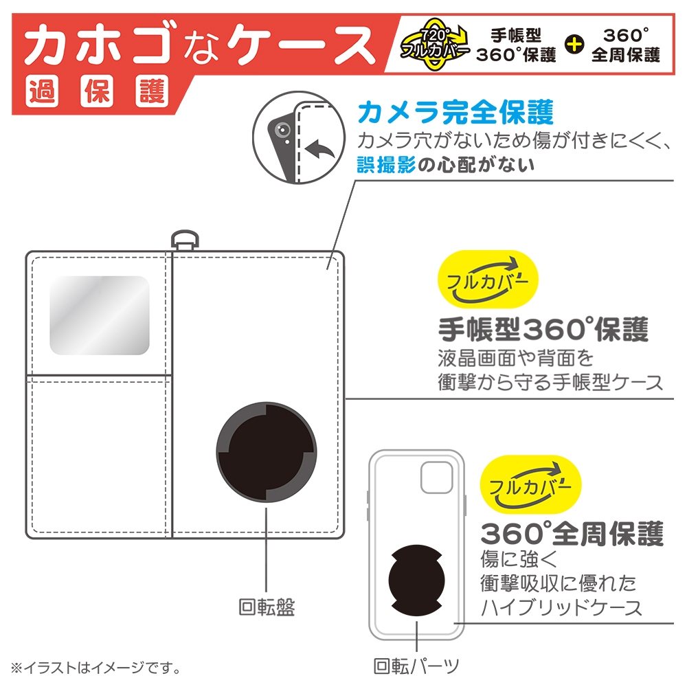 iPhone 12 mini 『ディズニーキャラクター』/手帳型 FLEX CASE サガラ刺繍/『プー』