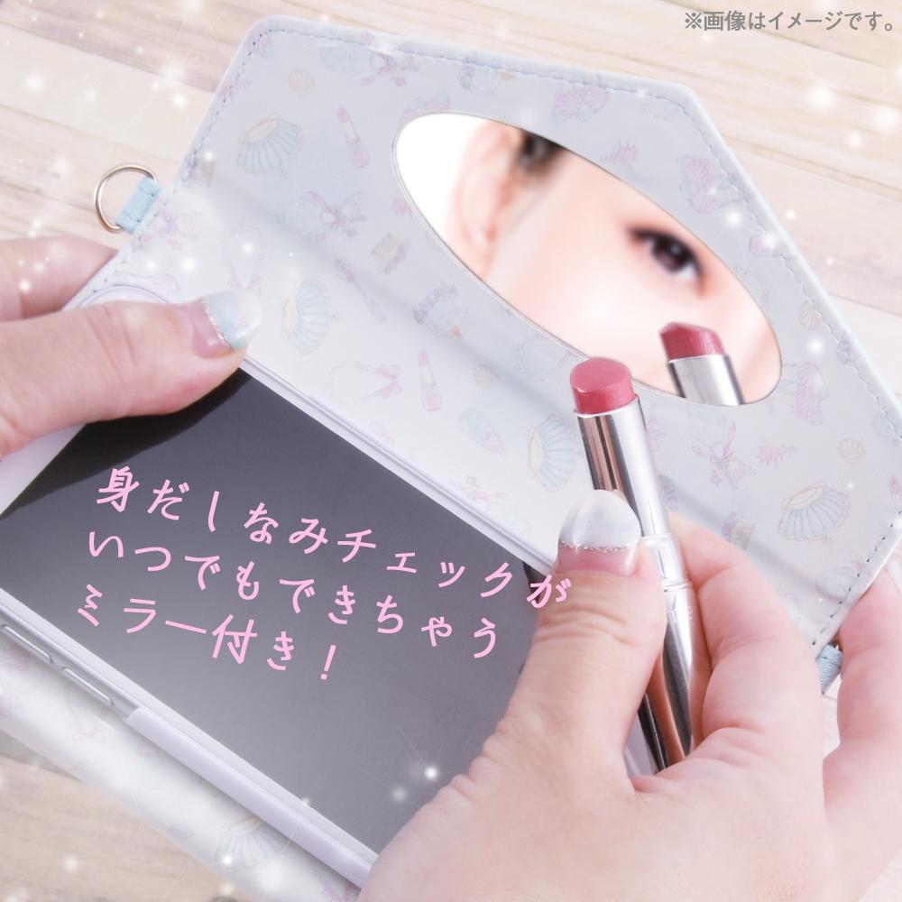 iPhone 12 mini 『ディズニーキャラクタープリンセス』/手帳型レザーケース Collet チャーム+ストラップ付/『アリエル』