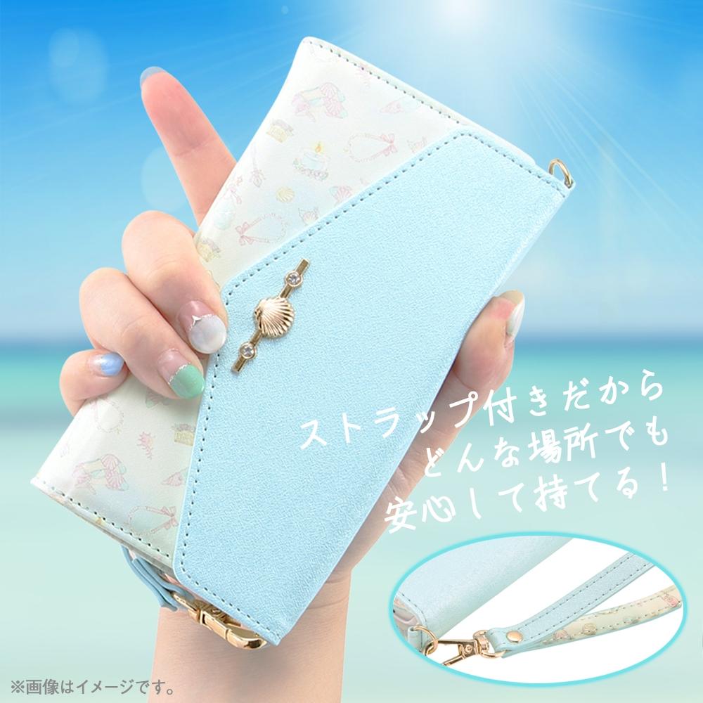 iPhone 12 mini 『ディズニーキャラクタープリンセス』/手帳型レザーケース Collet チャーム+ストラップ付/『ベル』