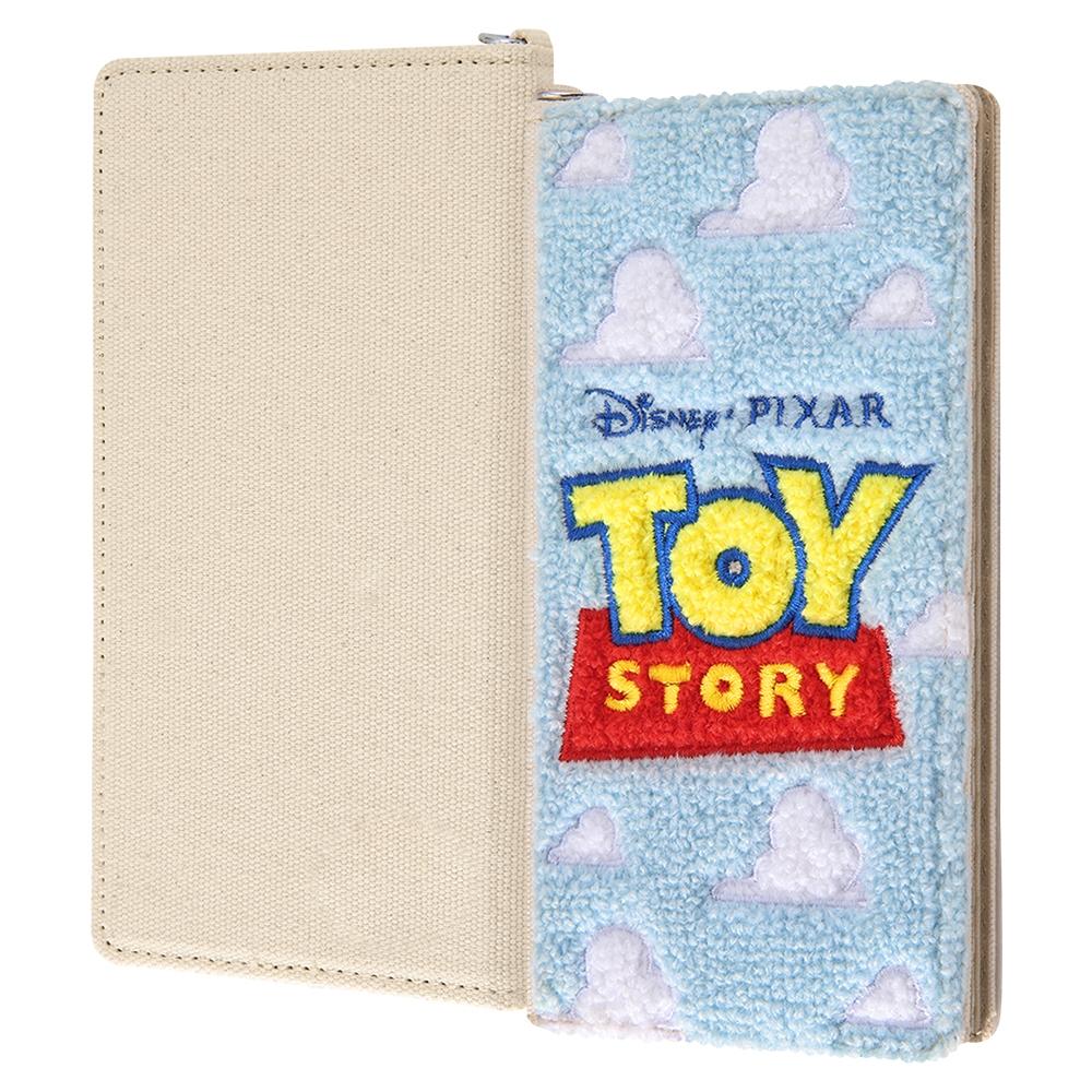 各種スマートフォン 『ディズニー・ピクサーキャラクター』/汎用手帳型ケース FLEX Mサイズ サガラ刺繍/『トイ・ストーリー/ロゴ』