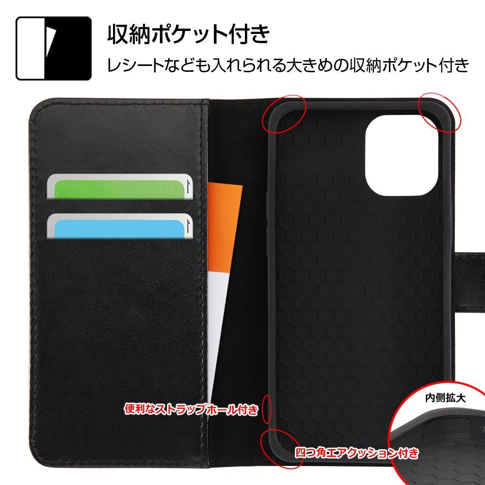 iPhone 12 mini 『ディズニーキャラクター』/耐衝撃 手帳型アートケース マグネット/『ドナルドダック_001』