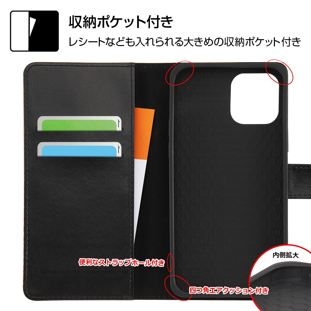 iPhone 12 / 12 Pro 『ディズニーキャラクター』/耐衝撃 手帳型アートケース マグネット/『ミニーマウス_016』