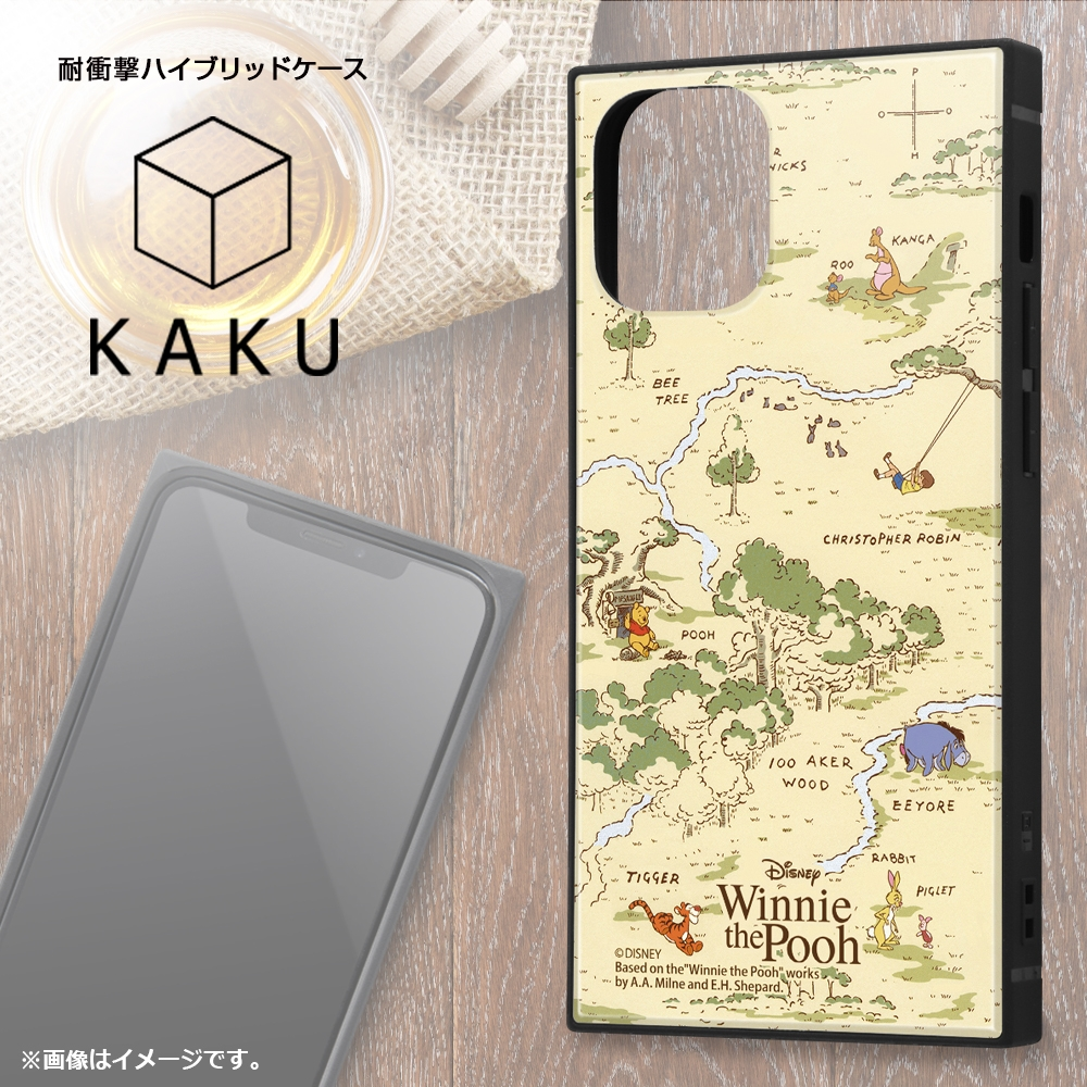 iPhone 12 mini /『ディズニーキャラクター』/耐衝撃ハイブリッドケース KAKU/『くまのプーさん/Perfect Day』【受注生産】