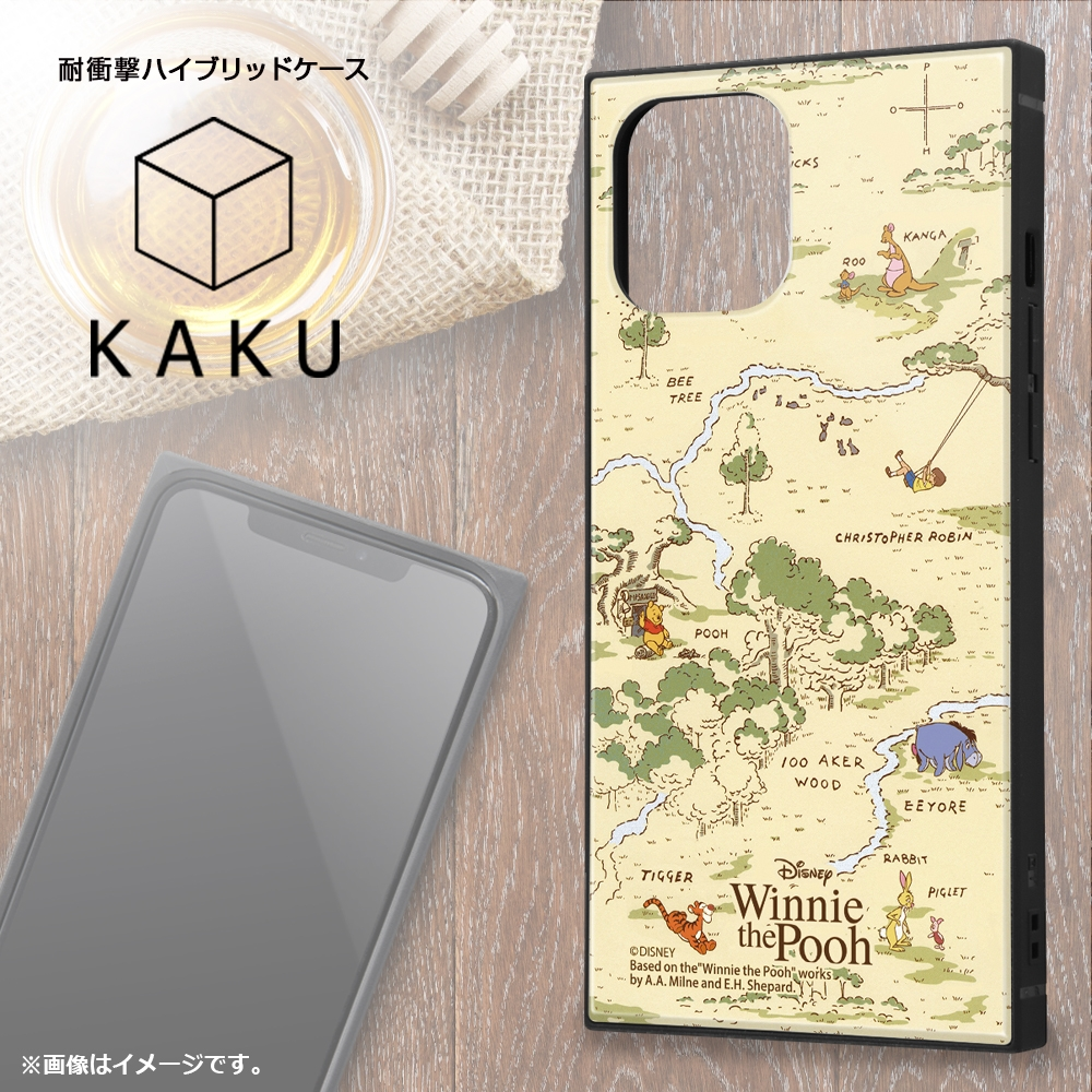 iPhone 12 Pro Max /『ディズニーキャラクター』/耐衝撃ハイブリッドケース KAKU/『くまのプーさん/ナチュラル』【受注生産】